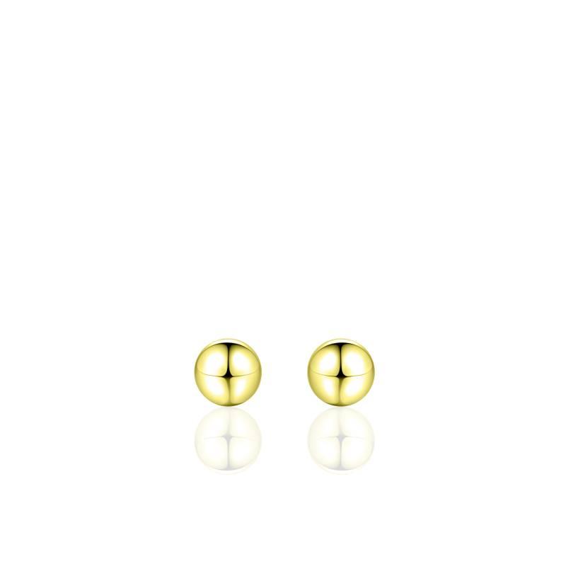 """Zilveren oorsteker """"bolletje"""" 6mm verguld"""