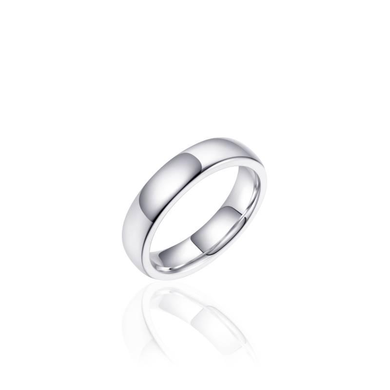 "Stevige zilveren ""trouwring"" 4,8mm breed"