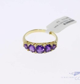 18k gold antique Victorian ring with amethyst