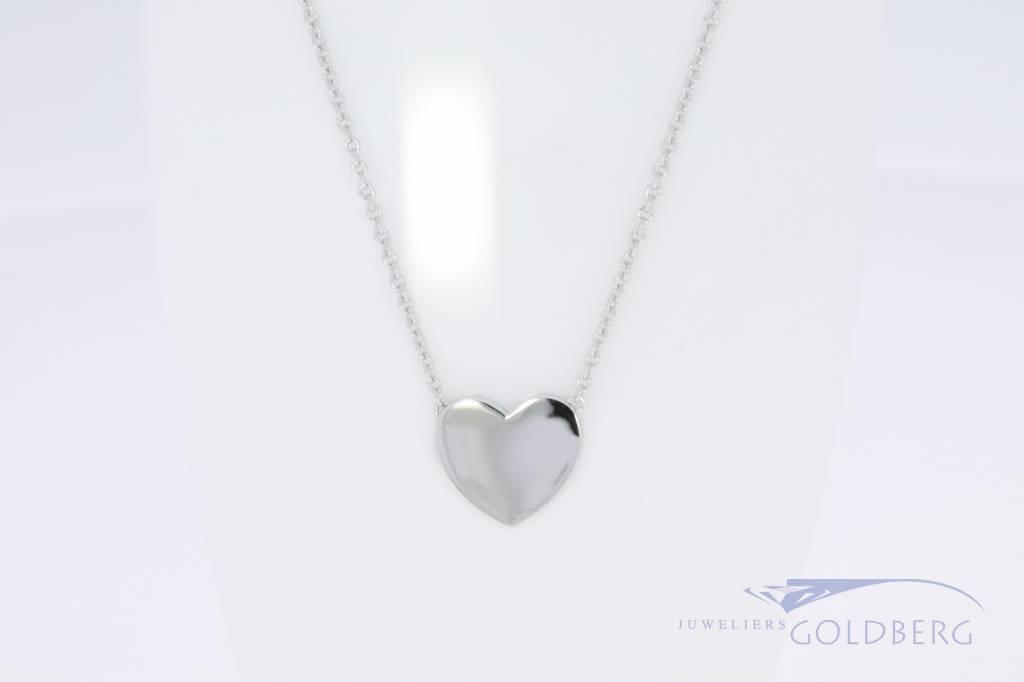 Hedendaags Klein zilveren graveer hartje aan ketting - Goldberg FL-22