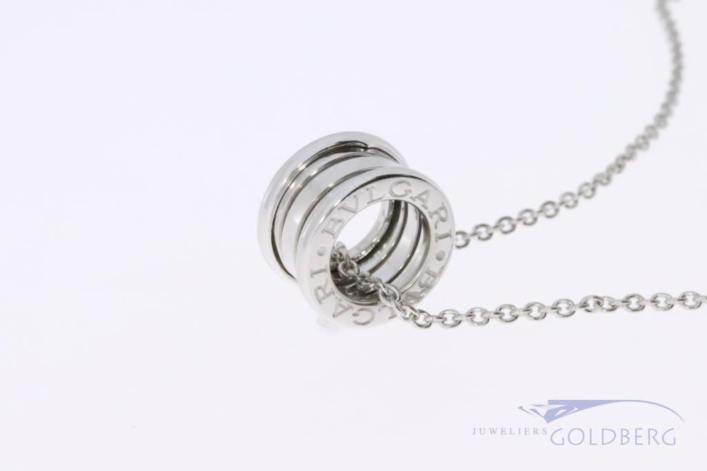 Bulgari B.ZERO 1 pendant + necklace white gold