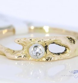 Vintage Lapponia ring 1986 with diamond