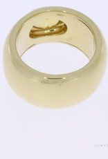 Thick 18k gold ring with citrine