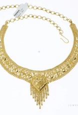 Beautiful vintage 21k gold Indian necklace (small size!)