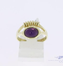 14k gold fantasy ring with amethyst