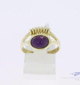 14k gouden fantasie ring met amethist