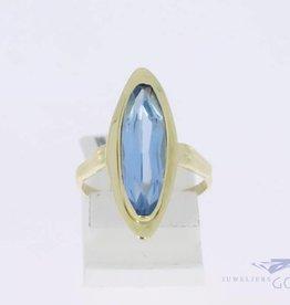 14k gouden ring met synthetische spinel