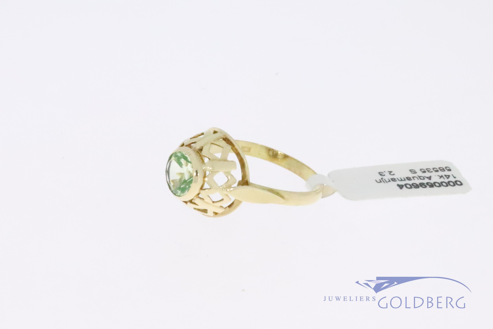 14k gold vintage ring with round citrine