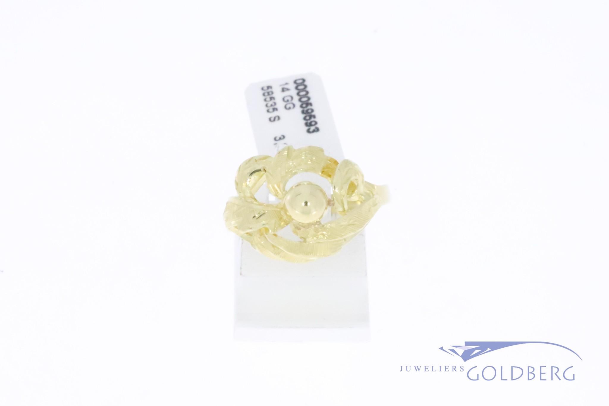 14k gouden vintage organische design ring