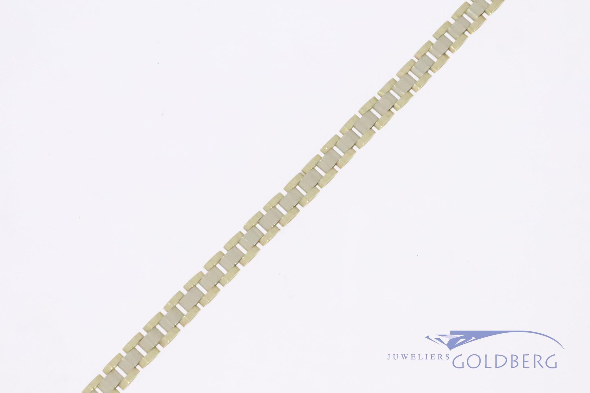"Vintage 14k gouden ""rolex schakel"" armband 4,2mm"