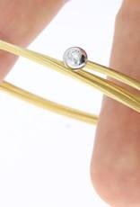 "18k gouden ""verende"" armband met 0.10ct briljant"
