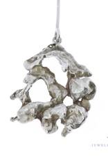 Vintage zilveren design collier van beeldend kunstenaar Menno Meijer