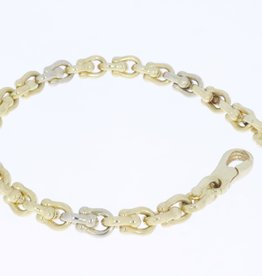 14k gold bicolor vintage bracelet