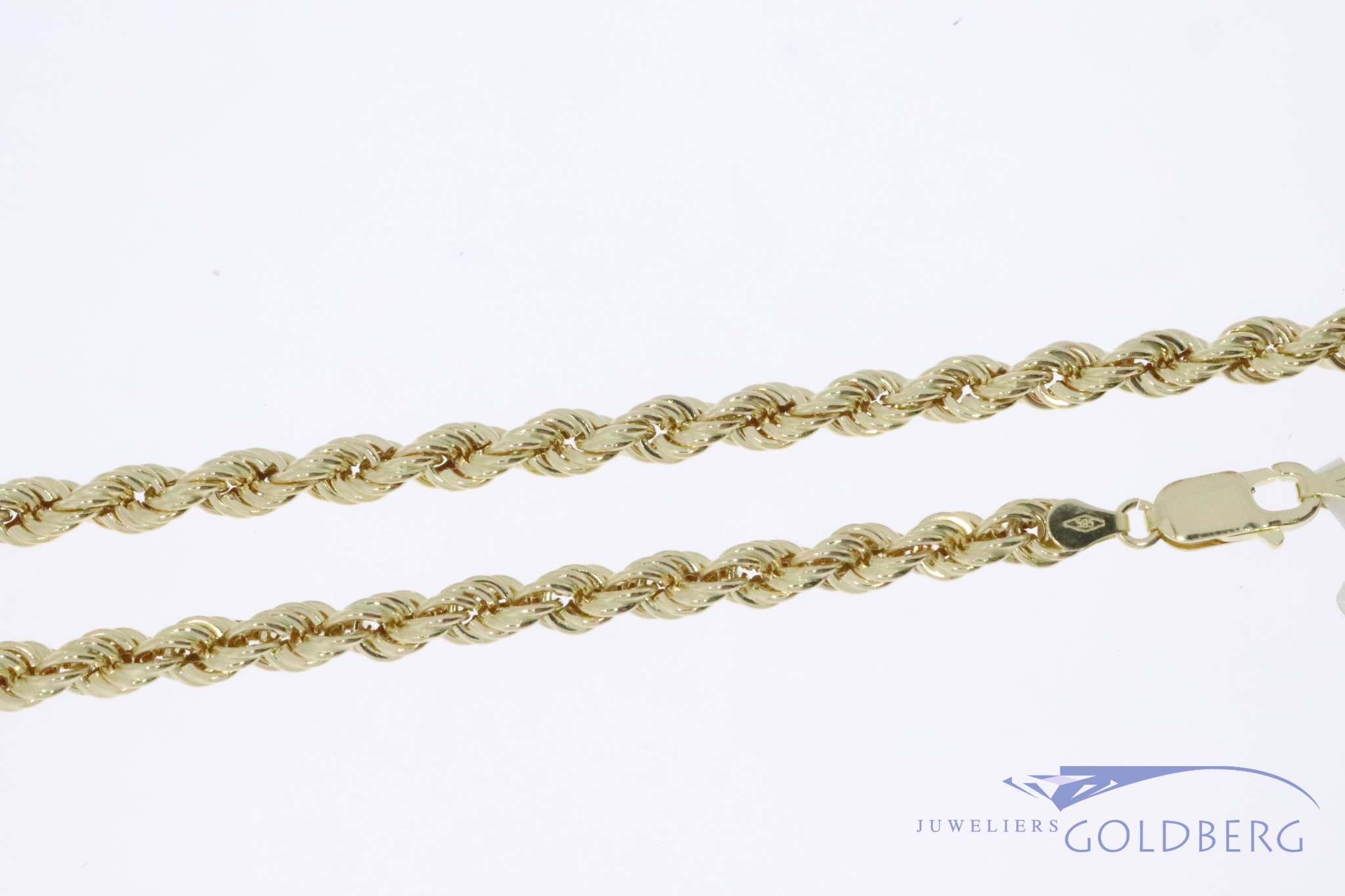 14k gouden rope ketting 5,3mm 60cm