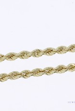 14k gold rope chain 5,3mm 70cm