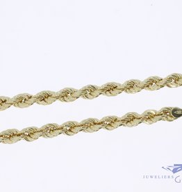 14k gouden rope ketting 5,3mm 70cm