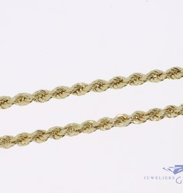 14k gold rope chain 4,7mm 60cm
