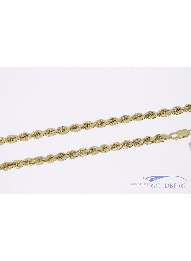 14k gouden rope ketting 4,7mm 60cm