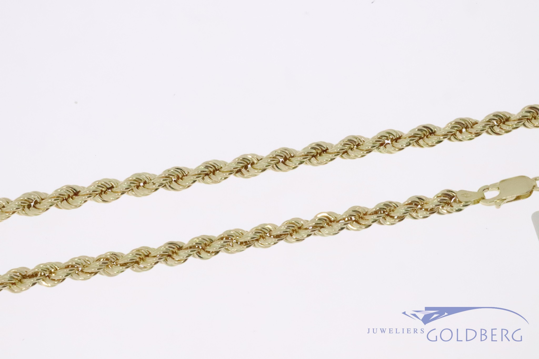 14k gold rope chain 4,7mm 70cm