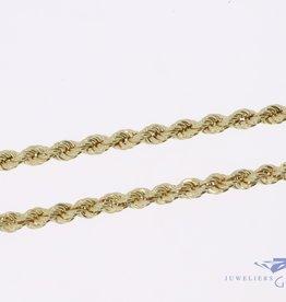 14k gouden rope ketting 4,7mm 70cm