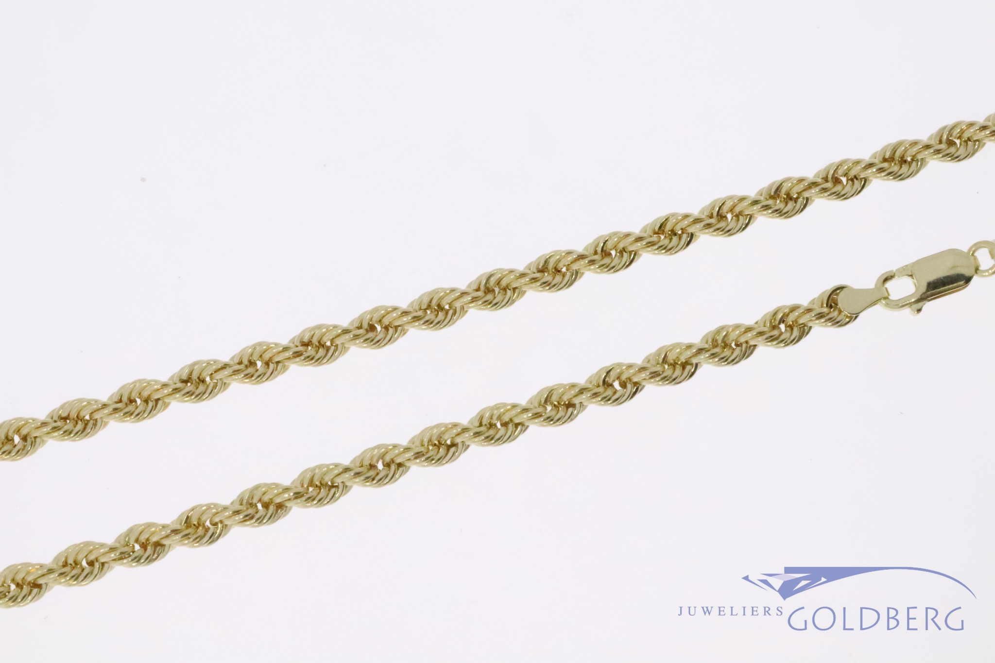14k gold rope chain 4,2mm 70cm