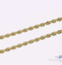 14k gouden rope ketting 4,2mm 70cm