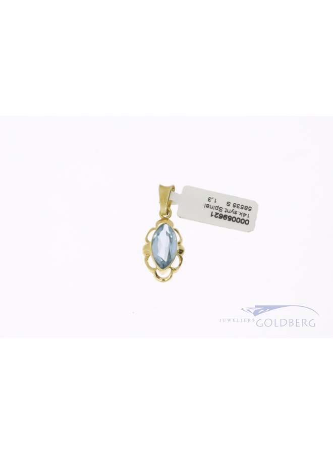 14k pendant with  synthetic spinel