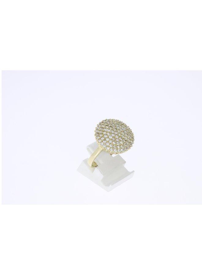 14k gouden ring met zirkonia