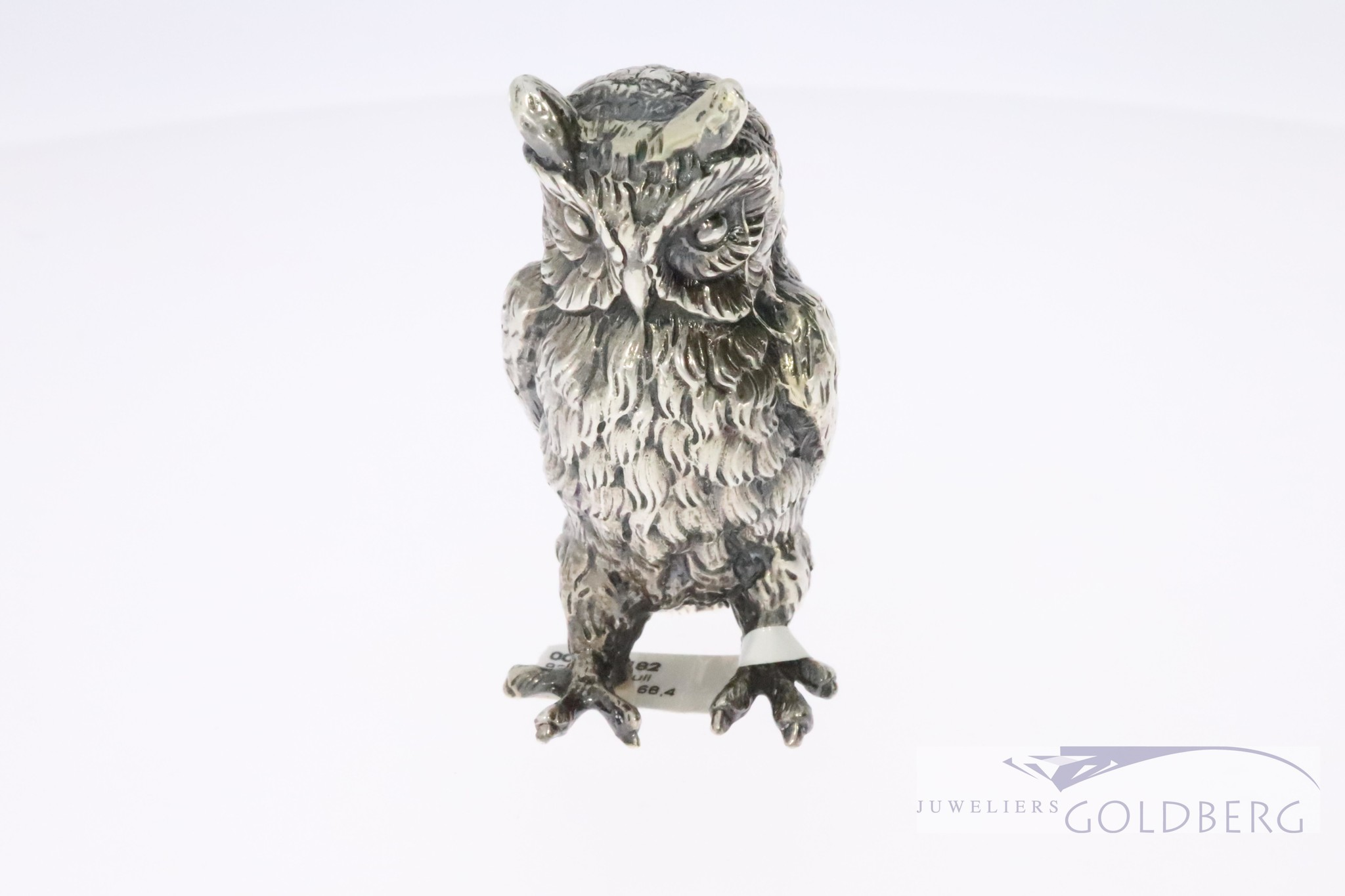 sterling silver minature owl