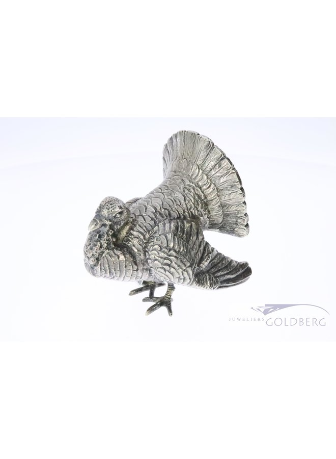 Zilveren 835 kalkoen miniatuur
