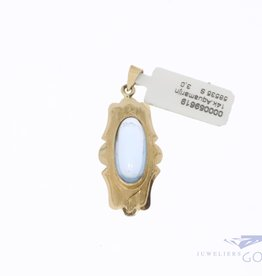 14k gold pendant with aquamarine