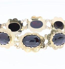 Jaren 60 14k gouden armband met garnaat