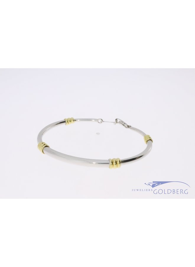 18k bicolor bangle