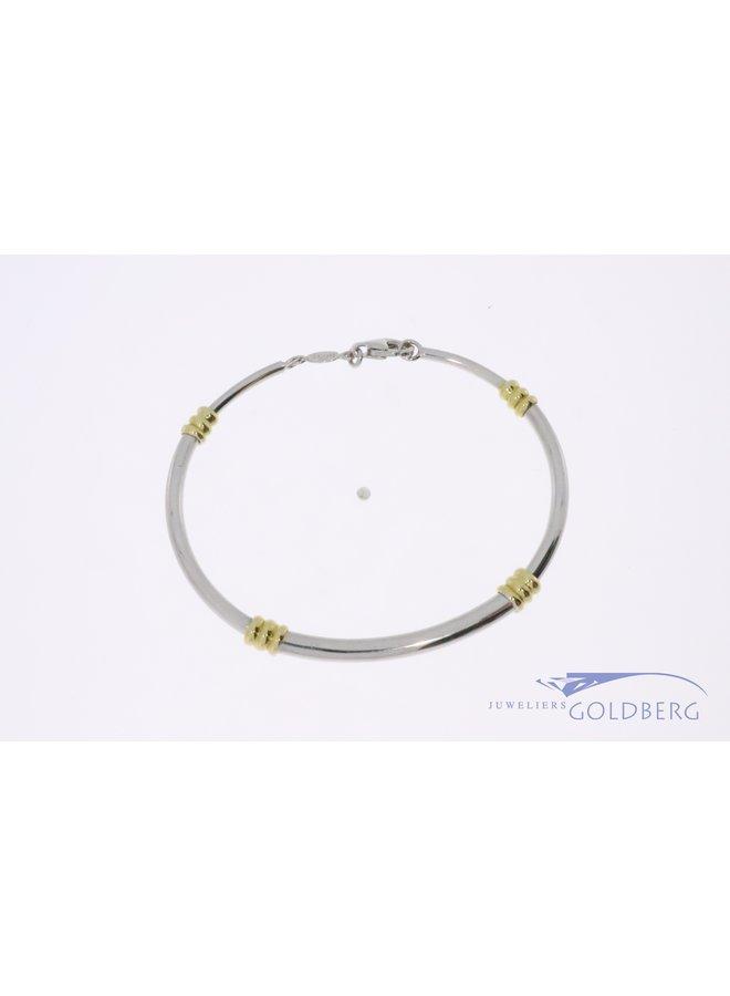 18k bicolor armband