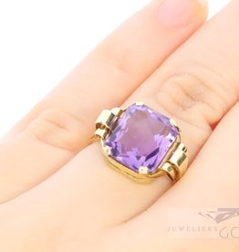 Beautiful antique 14k gold ring with Amethyst