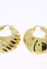 Grote 18k gouden oorbellen