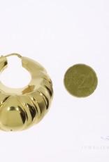 Large 18k gold earrings