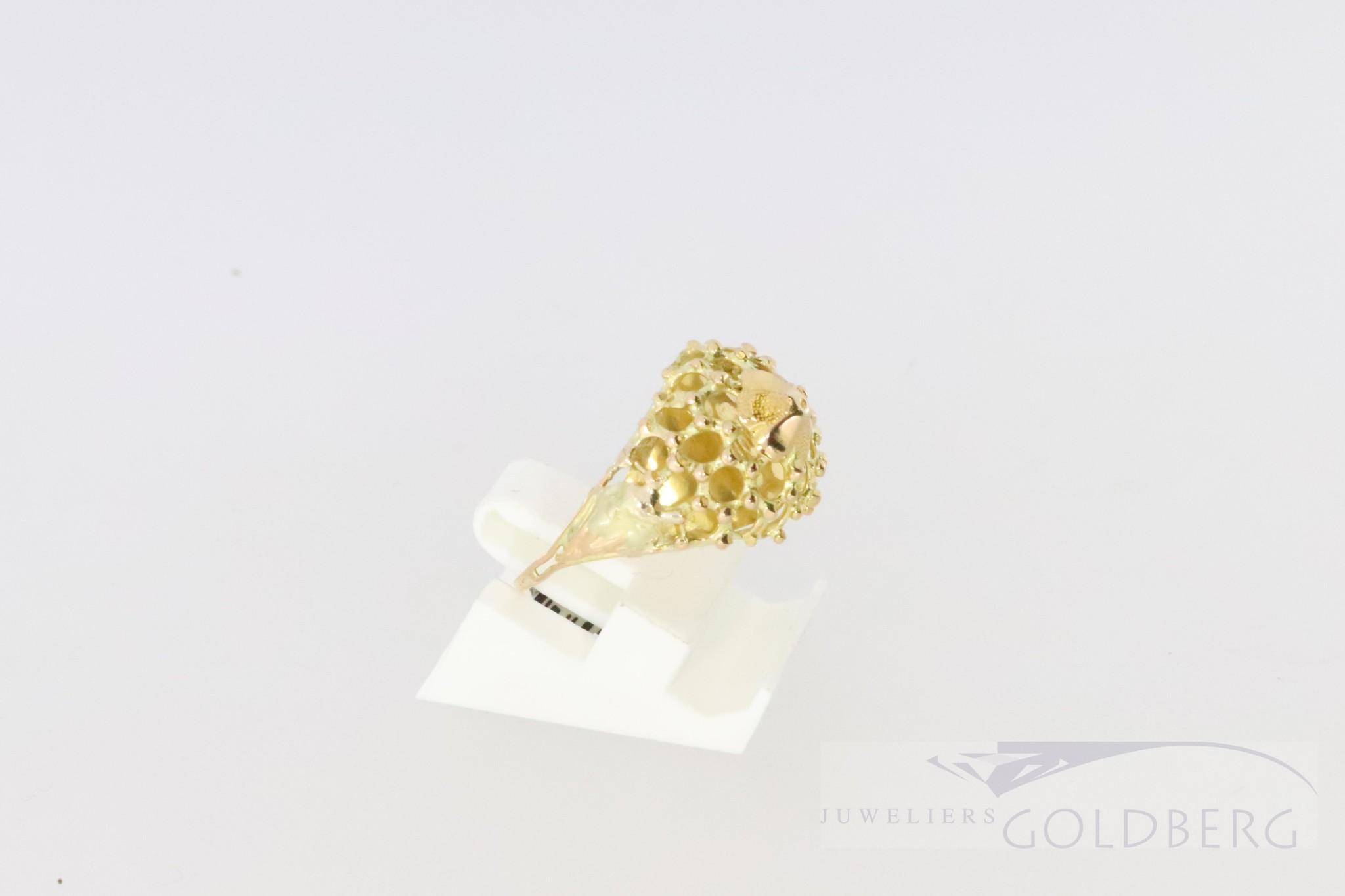 18k filligrain ring