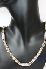 14k gouden 7mm magnum ketting met zirconia's, 70cm lang