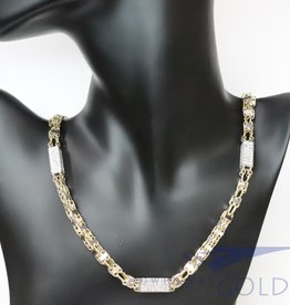 14k gold 7mm magnum necklace with zirconia's