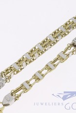 14k gold 7mm magnum necklace with zirconia's, 70cm long