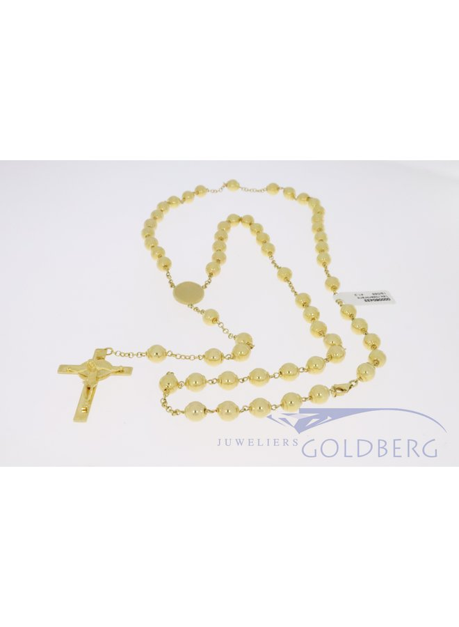 Heavy 14k gold rosary, 65cm with closure