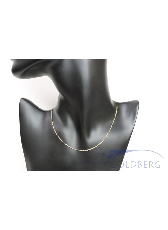 14k gold trace chain necklace 1,5mm
