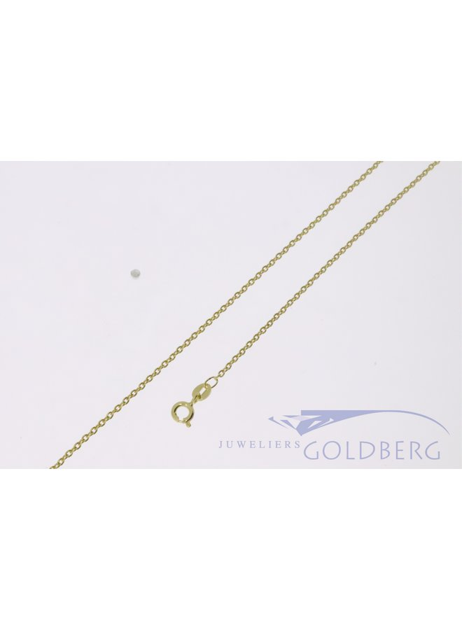 14k gold trace chain necklace 1,5mm (perfect for pendants!)