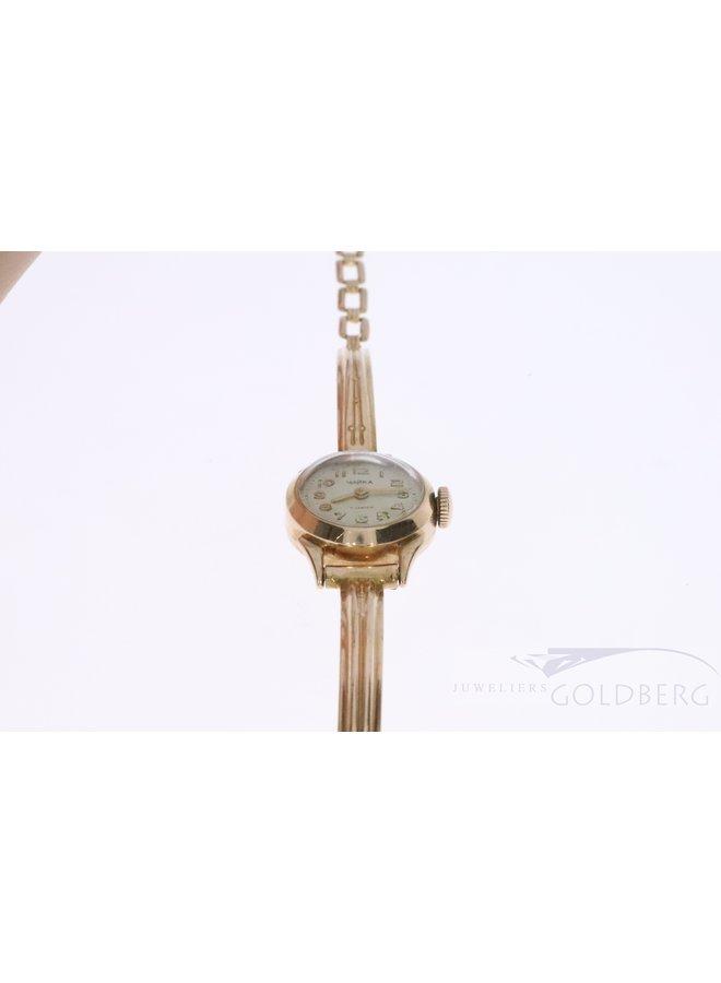 rose 14k gouden horloge uit Rusland