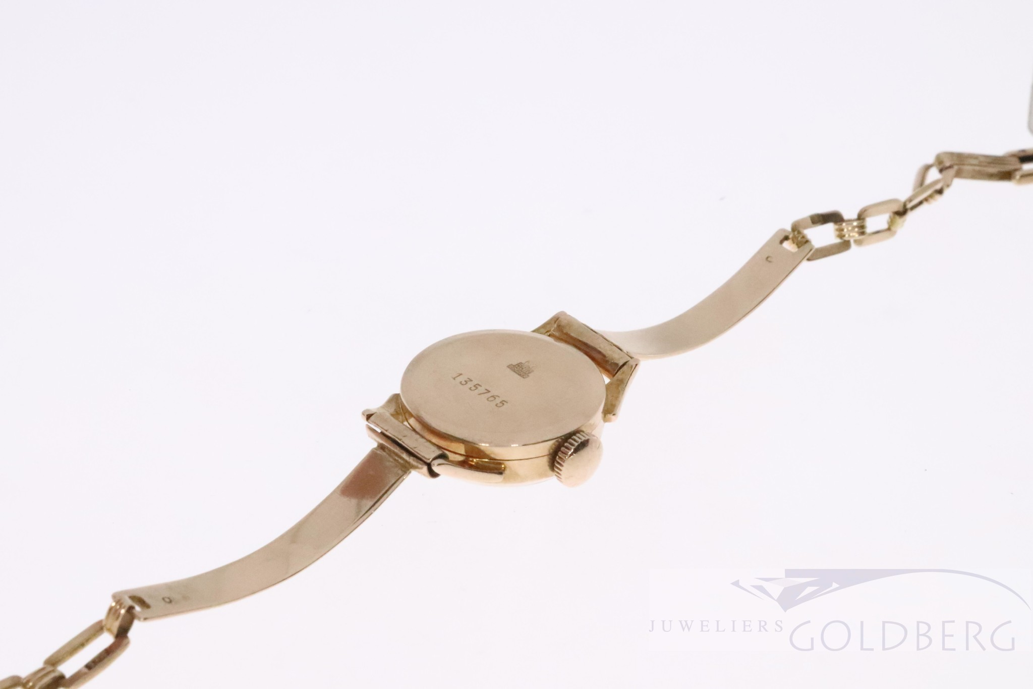 rose 14k gold watch from Rusia