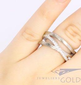 witgouden 18k ring met diamant