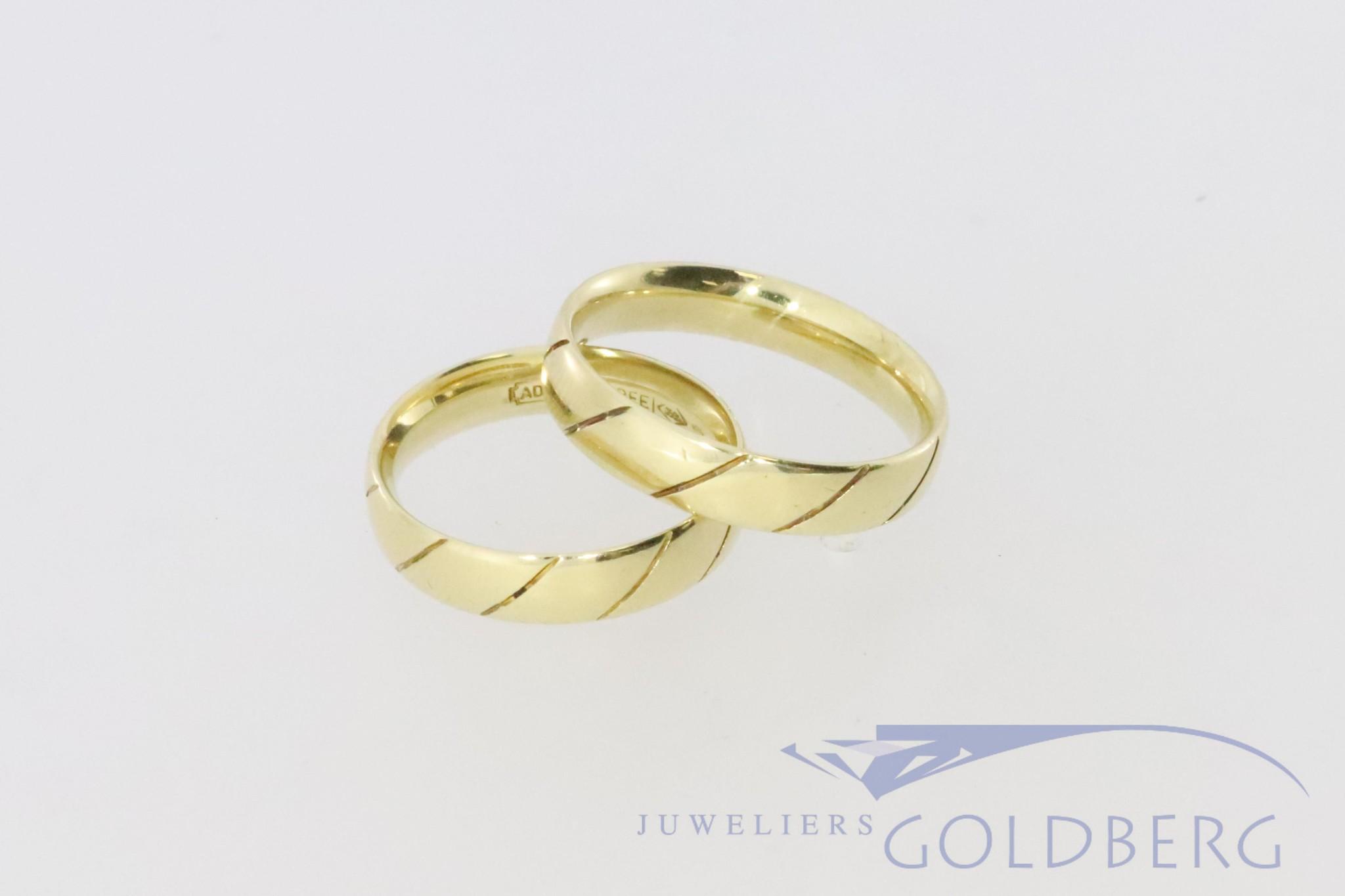 14k goud tweedehandse trouwringen set