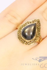 18k ring with star saphire