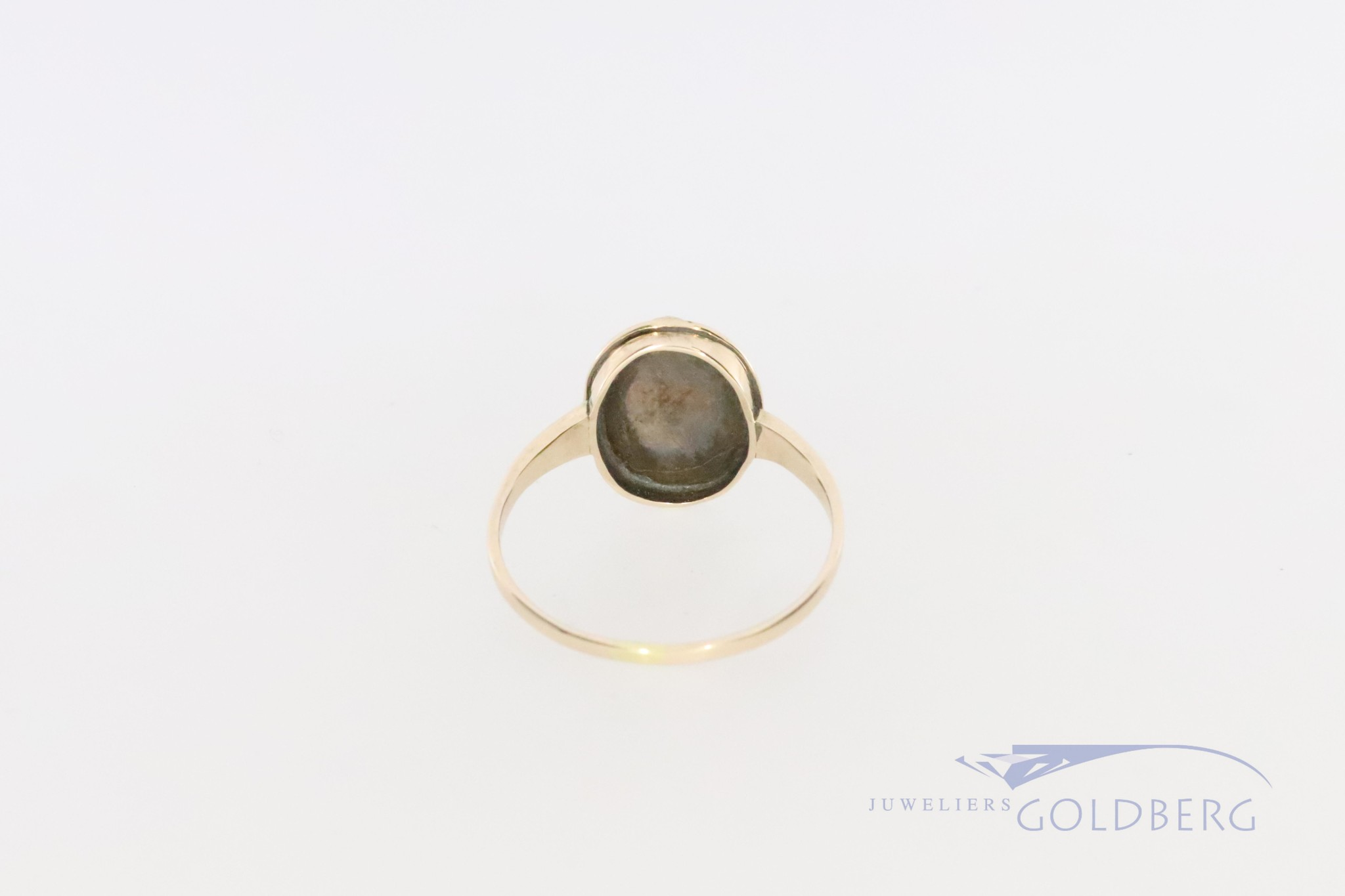 14k gold ring with opal, around 1920